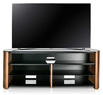 Alphason Finewoods FW1350SB-W Walnut TV Stand with Soundbar Shelf