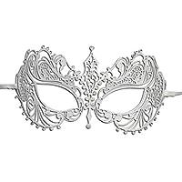 Burlesque-Boutique Women's Laser Cut Metal Venetian Pretty Masquerade Mask from Burlesque-Boutique