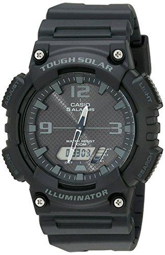 Casio Men's AQ-S810W-1A2VCF Tough Solar Analog-Digital Display Quartz Black Watch