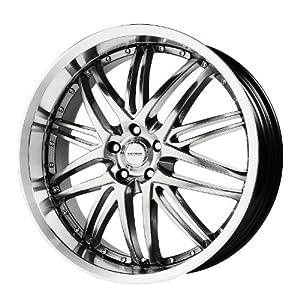 Verde Custom Wheels Kaos Hyper Silver Dark Wheel with Machined Finish (18×8″/5×112 mm)