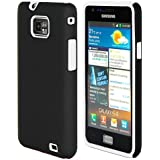 ihomegadget Dual Series Hybrid Rubber case cover for Samsung Galaxy S2 i9100 & FREE screen protector, cleaning cloth - Black & White