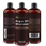 Argan Oil Daily Shampoo 16 oz, All Organic, Rejuvenates Heat Damaged Hair, Nourishes & Prevents Breakage, Sulfate Free, Vitamin Enriched Formula by Premium Nature