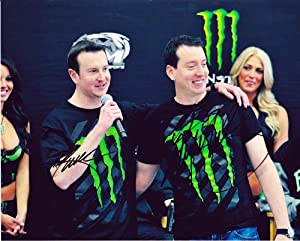 Buy 2X AUTOGRAPHED 2013 Kyle Busch & Kurt Busch #54 MONSTER ENERGY (Promo Event) 8X10 SIGNED NASCAR Glossy Photo w  COA by Trackside Autographs