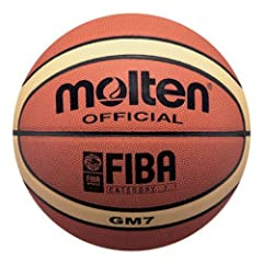 Buy Molten Indoor Outdoor FIBA Leather Basketballs 2-TONE INTERMEDIATE SIZE 6 by Molten USA