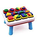 Beby Basics Baby's First Blocks Shape Sorting Toddler Early Development Activity Centers Table