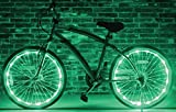 Wheel Brightz LED Bicycle Safety Light Lightweight Accessory (Mean Green)