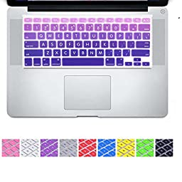 DHZ® Big Font Violet Gradient Keyboard Cover Silicone Skin for MacBook Air 13\