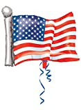 Anagram International American Flag Shape Foil Balloon, 27