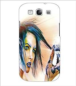 PrintDhaba Diamond Girl D-5299 Back Case Cover for SAMSUNG GALAXY S3 (Multi-Coloured)
