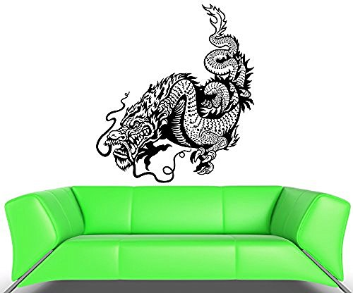 GGWW Wall Decal Dragon Fire Scale Snake China Monster Tail Vinyl Stickers (Ed068)