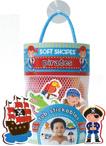 Innovative Kids Soft Shapes Illustration Tub Stickables Pirates Playset - 1