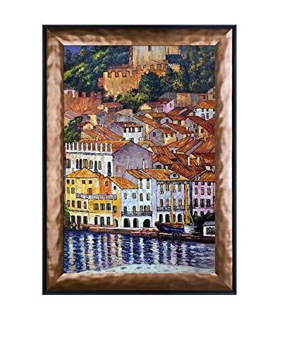 Gustav Klimt's Malcesine On Lake Garda Framed Hand Painted Oil Canvas, Multi, 42 x 30