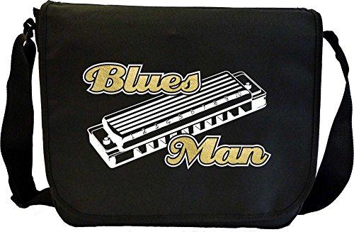 Harmonica-Blues-Man-Sheet-Music-Document-Bag-Musik-Notentasche-MusicaliTee