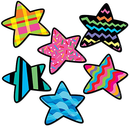 Creative Teaching Press 6-Inch Designer Cut-Outs Variety Pack, Stars (1841)