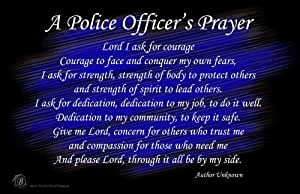 amazoncom a police officers prayer wall poster posters