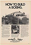 1980 How to Build a Boeing 757 Aircraft Airplane Building Print Ad (Memorabilia) (54875)