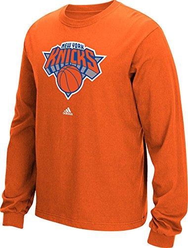 NBA New York Knicks Men's Full Primary Logo Long Sleeve Tee, Medium, Orange (New York Knicks Long Sleeve Shirt compare prices)