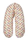 Flexofill 2008-1-540 - cuscino da gravidanza - con federa - XL 190 x 40cm - civetta beige