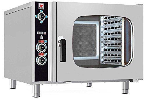 North Pro Gas FCN 62 Electric Convection/Steam Oven for 6 Trays 600x400mm - LxWxH: 985x940x760mm (400V-3N-AC-50Hz) (Made in Greece)