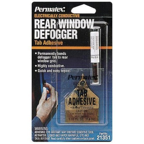 Permatex 21351 Electrically Conductive Rear Window Defogger Tab Adhesive - 2 Part Kit at Sears.com