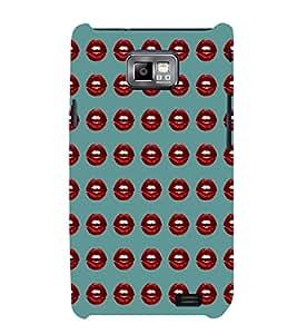 EPICCASE red lips Mobile Back Case Cover For Samsung Galaxy S2 (Designer Case)
