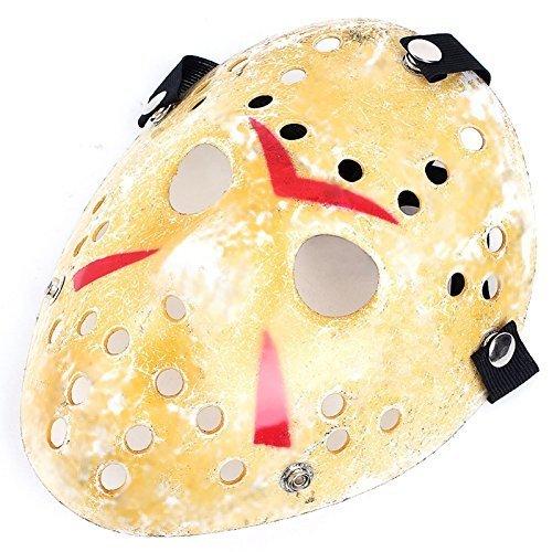 Edealing 1PCS oro dell'annata Jason Voorhees Freddy Hockey Festival di travestimento di Halloween del partito di travestimento