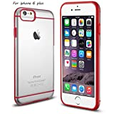 Iphone 6 5.5'' Case -Arobo Red/clear Slim Fit Hybrid Bumper Cover Case (Flexible TPU + Hard Pc) Exclusive for Apple Iphone 6 5.5''(2014) (iphone 6 plus-red)
