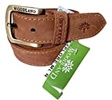 #9: Woodland Camel Brown Genuine Leather Casual Belt for Men ( Size: 40