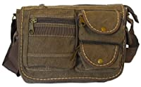Multi-Pocket Coffee Vintage Messenger Bag