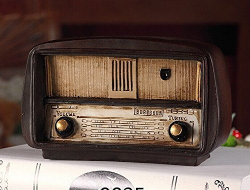 Retro do old vintage radio resin crafts--9825