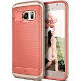 Galaxy S7 Case, Caseology® [Wavelength Series] Textured Pattern Grip Cover [Coral Pink] [Shock Proof] for Samsung Galaxy S7 (2016) - Coral Pink