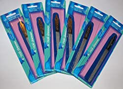 6 Pack Diamon Deb Nail Files 6 Inches Long