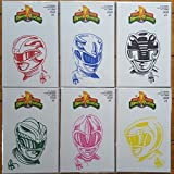 img - for Mighty Morphin Power Rangers #0 Blank Cover Remarked with Hand Drawn - Red, Blue, Black, Green, Pink, Yellow Ranger Sketch by Ken Haeser - Bundle of Six (6) BOOM! Comics book / textbook / text book