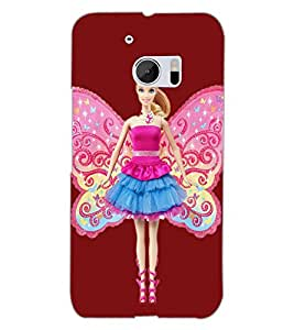 HTC ONE M10 ANGEL GIRL Back Cover by PRINTSWAG