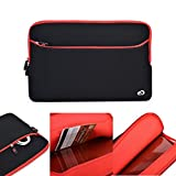 Kroo 15.6 Inch Notebook Neoprene Sleeve Case with External Zipper Pocket for HP Pavilion 15/HP Pavilion 15-p178na/HP15-g022na/HP 15-r101na/HP Beats Special Edition 15-p058na Laptop in Black / Red
