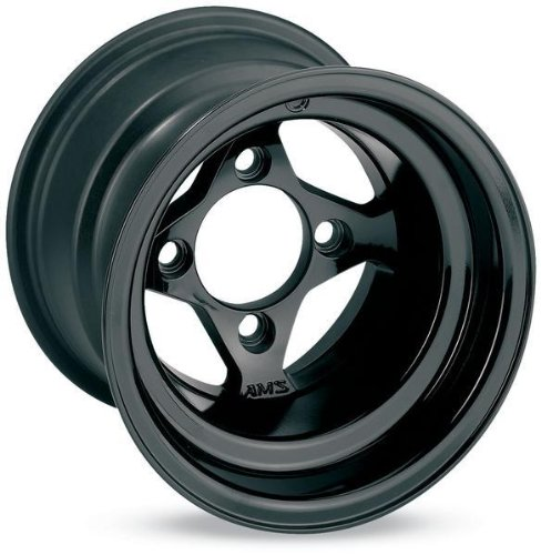 AMS Black Cast Aluminum Front Wheel &#8211; 10&#215;5, 4/156,