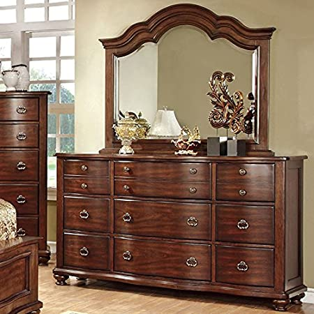 Bellavista Traditional Elegant Style Brown Cherry Finish Bedroom Dresser