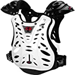 EVS Flux Youth Chest Protector Off-Road/Dirt Bike Motorcycle Body Armor - White/Black / One Size