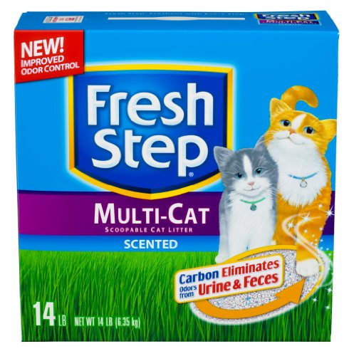 See Fresh Step Multi Cat Scented, 14-Pound Boxes (Pack of 3)