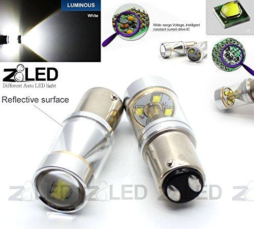 Z8® 2X 1157 Bay15D 30W Cree Xbd High Power Equivalent Led Tail Brake Stop Auto Led Light Tail Bulb Z8Led 9G1157 (White)