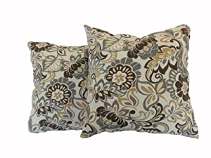 Amazon.com - Newport Layton Home Fashions 2-Pack KE20 Indoor/Outdoor Pillows, Zoe, Stone - Throw ...