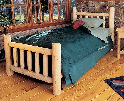 Rustic Natural Cedar Furniture Log Wood Bed