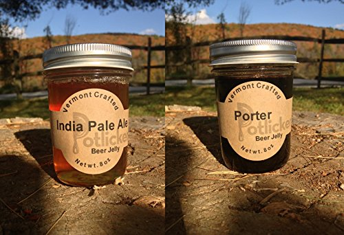 Set of 2 Jars of Craft Beer Jelly - IPA and Porter (Beer Jelly Jam compare prices)