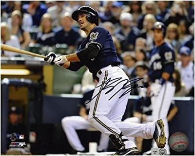 """Ryan Braun Milwaukee Brewers Autographed 8"""" x 10"""" Looking at Ball Photograph - Fanatics Authentic Certified"""