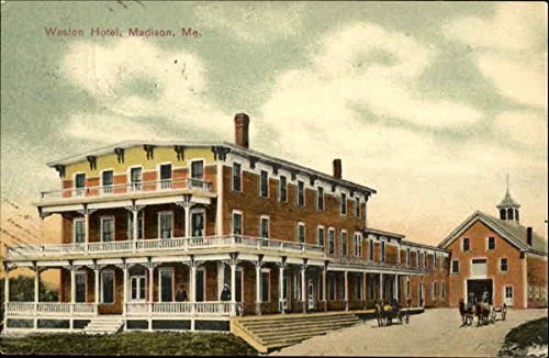 Weston Hotel Madison, Maine Original Vintage Postcard (Weston Hotel compare prices)