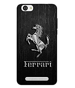 Case Cover Logo Printed Black Soft Back Cover For LYF WIND 6