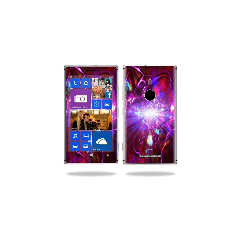 MightySkins Protective Vinyl Skin Decal Cover for Nokia Lumia 925 Cell Phone Sticker Skins Crimson Trip Computers & Accessories