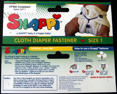 Imagen de Snappi sujetadores de tela del pañal - Paquete de 3 (azul claro, azul brillante, Blanco)
