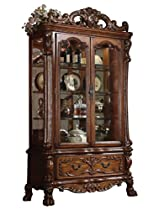 Hot Sale ACME 12158 Dresden Curio, Cherry Oak Finish