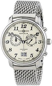 Zeppelin Men's Watch LZ127Graf XL Chronograph Quartz Stainless Steel 7684M5